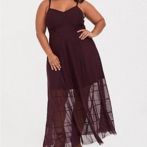 Torrid burgundy Maxi dress